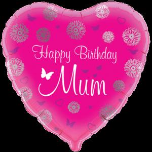 Happy Birthday Mum Gerber Daisy Balloon in a Box