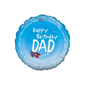 Happy Birthday Dad Sky Writing Balloon in a Box