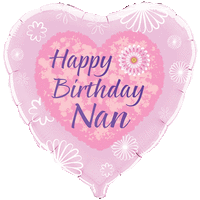 Happy Birthday Nan Pink Flowers