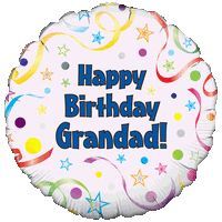 Happy Birthday Grandad Colourful Balloon in a Box