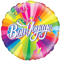Colourful Bon Voyage Balloon in a Box