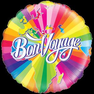 Colourful Bon Voyage Balloon in a Box