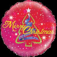 Ribbon Tree Christmas Balloon in a Box