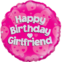 "18"" Happy Birthday Girlfriend Balloon in a Box"