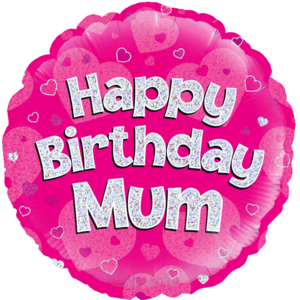 "18"" Happy Birthday Mum Pink Balloon in a Box"
