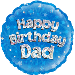 "18"" Happy Birthday Dad Blue Balloon in a Box"