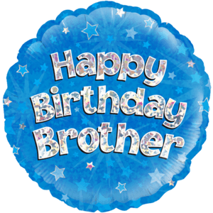 """18"""" Happy Birthday Brother Balloon in a Box"""
