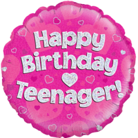 Happy Birthday Teenager Pink
