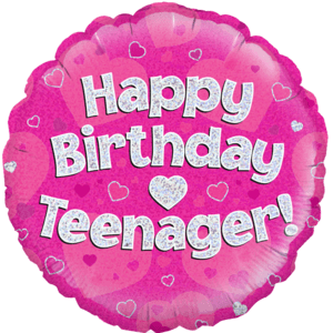 "18"" Happy Birthday Teenager Pink Balloon in a Box"