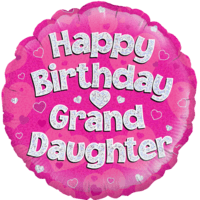 Happy Birthday Granddaughter Pink