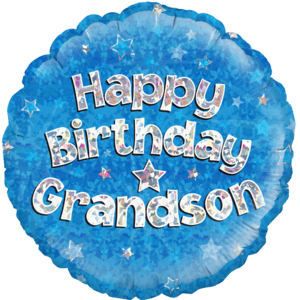 "18"" Happy Birthday Grandson Balloon in a Box"