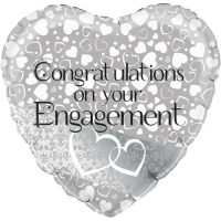 Entwined Hearts Engagement Balloon in a Box