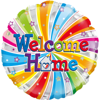 Welcome Home Swirl  Balloon in a Box