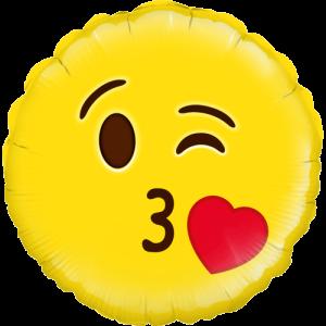 Blow A Kiss Emoji Balloon in a Box