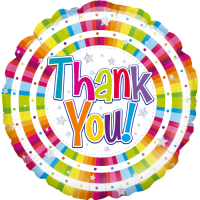 Bright Thank You Holographic Balloon in a Box
