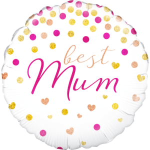 Best Mum Holographic Balloon in a Box