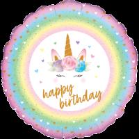 Flowers Unicorn Birthday Balloon in a Box