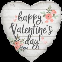 Rustic Valentine Hearts Balloon in a Box