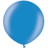 3 Foot Metallic Blue Latex Balloon overview