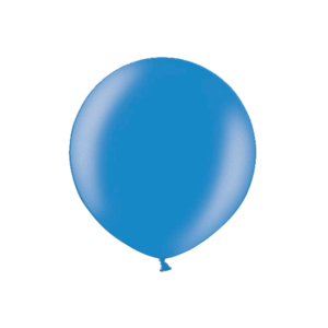 3ft Metallic Blue Latex Balloon Product Display