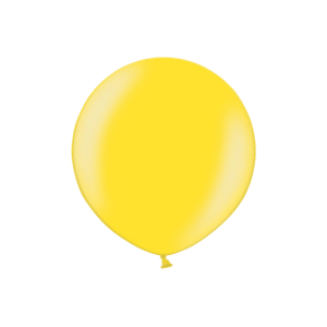 3ft Metallic Citrus Yellow Latex Balloon Product Display