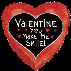 You Make Me Smile Valentine Balloon in a Box