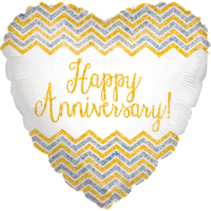 Anniversary Holographic Heart Balloon in a Box