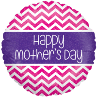 Mothers Day Colourful Holographic Chevrons Balloon in a Box