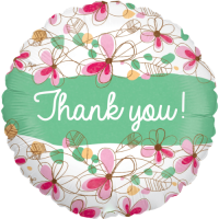 Floral Thank You Holographic Balloon in a Box