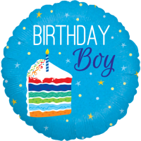 Birthday Cake Boy Holographic Balloon in a Box