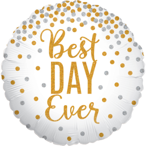 Glittering Best Day Ever Balloon in a Box