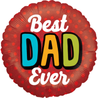Bold Best Dad Ever Balloon in a Box