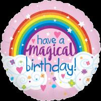 Glitter Magical Rainbow Birthday Balloon in a Box