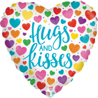 Hugs & Kisses Holographic Balloon in a Box