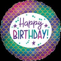 Glitter Mermaid Birthday  Balloon in a Box