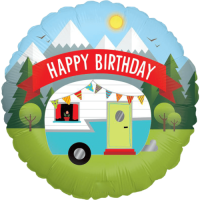 Happy Birthday Camping Balloon in a Box