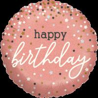 Rose Gold Confetti Birthday Balloon in a Box