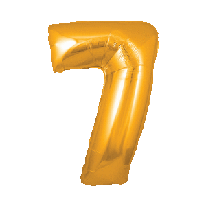 Giant Gold 7 Balloon in a Box