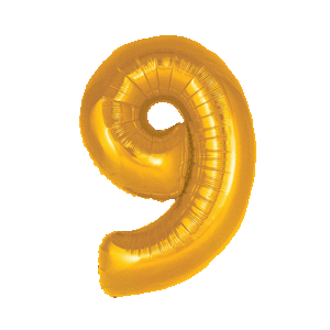 Giant Gold 9 Balloon in a Box
