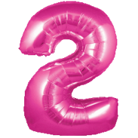 Large Pink 2 Balloon in a Box