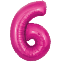 Large Pink 6 Balloon in a Box