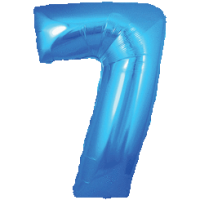 Large Blue 7 Balloon in a Box
