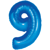 Giant Blue 9 Balloon in a Box