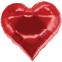 Shiny Red Heart Balloon in a Box