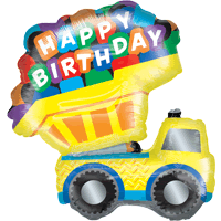 Happy Birthday Truck Balloon in a Box
