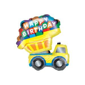 Happy Birthday Truck Balloon in a Box