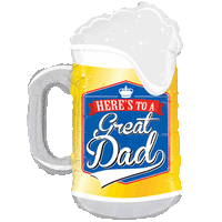 Great Dad Pint Glass Beer Balloon in a Box