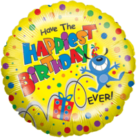 Colourful Dots Happiest Birthday Balloon in a Box