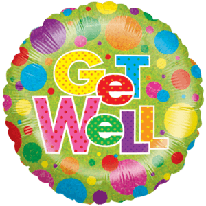 Get Well Colourful Dots  Balloon in a Box