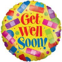 Get Well Plasters Balloon in a Box